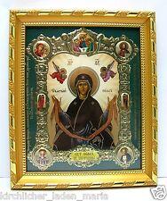 Ikone der Gürtel der Gottesmutter geweiht икона Пояс богородицы 20,5x18x1,7 cm