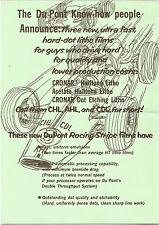 1967 Du Pont RACING STRIPE FILMS Promotional Advertising INDY RACE CAR GRAPHICS