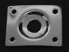 Guitar Parts - JACK PLATE Curved Recessed RECTANGLE - CHROME