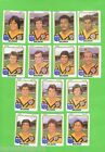 1981 BALMAIN TIGERS SCANLENS RUGBY LEAGUE CARDS