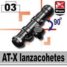 AT-X (W8) Anti Tank Rocket Launcher compatible with toy brick minifig Army Tow