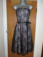 OASIS LADIES BLACK LACE DRESS SIZE 10