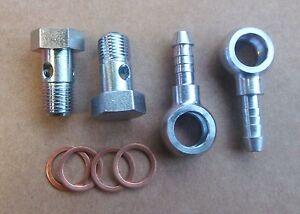 Hohlschrauben M10 x 1 Ring-Schlauchnippel DN 4/6 Kupferdichtringe