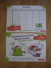 10 x Stundenplan, Stundenpläne mit Motiv / Werbung www.monster-deal.de, herlitz