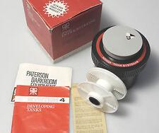(PRL) SVILUPPATRICE PATERSON SISTEMA 4 35mm 126 DEVELOPING TANK ENTWICKLERYANK