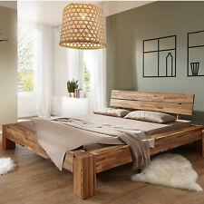 Massivholz Bett Wildeiche geölt parkettverleimt 180x200 Balkenoptik