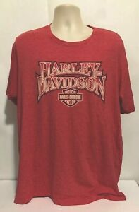 RARE Harley Davidson OF Aruba HD T SHIRT SIZE XXL SOFT WASH RED BIG LOGO HTF EUC