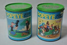 2 Vintage Popeye Jigsaw Puzzle in Can 1974 Whitman 54 Pieces No 7591