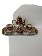 czechoslovakia tea set