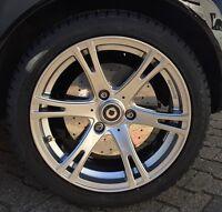 Bremsscheibenattrappen Smart Fortwo 450 451 & Roadster 452 Edelstahl poliert