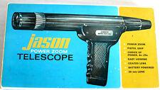 Jason Pistol Grip Power Zoom Telescope 8X 25X 30 MM Model Vintage 1968