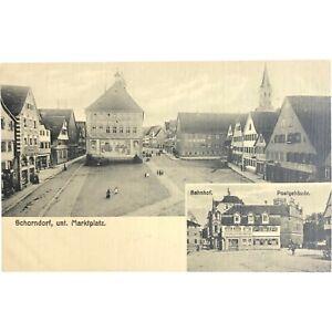 Vintage Postcard, Schorndorf, unt. Marktplat