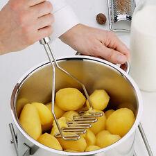 Kitchen Stainless Steel Potato Egg Masher Ricer Vegetable Fruit Crusher Tool NC