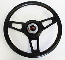 "1967 Camaro Grant Black Steering with Black Spokes Wheel Red/Black cap 13 3/4"""
