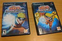 PS 2 GAMES NARUTO UZUMAKI CHRONICLES (TWO Games)