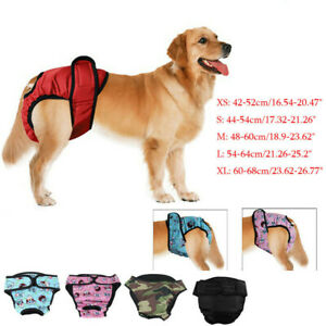 Female Pet Dog Physiological Pants Sanitary Nappy Diaper Shorts Underwear UK