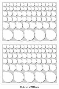 Dr Zzeds 130 White Vinyl Blackout LED Light Cover Dims electronics stickers