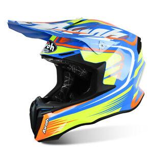 Airoh Motorcycle Bike Twist MX Helmet Mix Blue Motocross Off-Road Enduro Quad