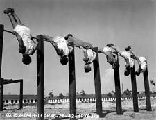 Photo. ca 1943. WW2. Tyndall Field, Florida. Exercise Bars