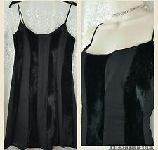 ZUM ZUM Black Velvet Stripes Prom Cocktail Dance Party Dress Sz 11-12
