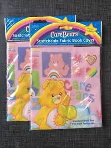 Care Bears 2007 American Greetings FAB Starpoint Stretchable Fabric Book Covers