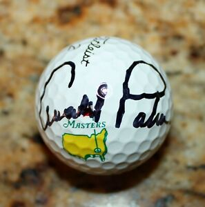 ARNOLD PALMER SIGNED PGA TOUR MASTERS AUTOGRAPHED AUTHENTICATED GOLF BALL