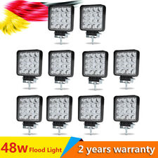 10X48W LED Work Light Square Flood Fog Driving Lamp Offroad SUV Truck Boat 4x4WD
