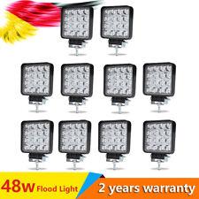 10x phares de travail 16 LEDs 48W feux voiture SUV chantier 4x4 worklight 12v24v