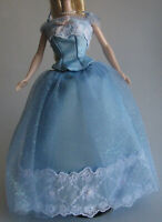 GOWN MATTEL BARBIE DOLL BIRTHDAYS WISHES TAFFETA TULLE WHITE LACE TRIMMED GOWN