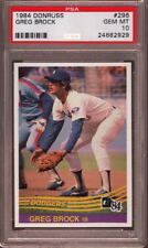 1984 DONRUSS # 296 GREG BROCK ☆RARE☆ LOS ANGELES L.A. LA DODGERS PSA 10 GEM-MINT