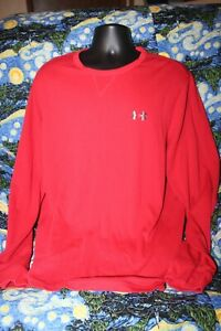 Under Armour Loose Fit Cold Gear XXL Red Long Sleeve Thermal Mens