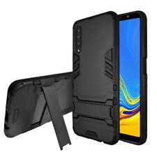 SDTEK Funda Para Samsung Galaxy A7 (2018) Con Soporte (Negro)
