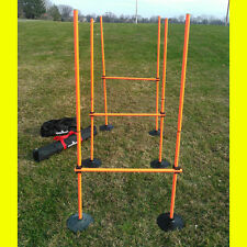 1 Set of 3 Hurdles for indoor outdoor use corner flags set or 6 coaching sticks