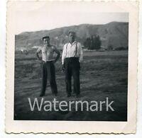 1960s Square snapshot Photo   Shirtless man   Salt Laket City Utah