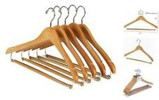 Nature Smile Contoured Wooden Hangers Sturdy Wood Suit Coat Hangers with Locking