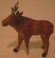 Old 1920s Pee Wee German Composition Moose w/ Lead Antlers for Christmas Village