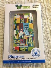 Disney D-Tech Limited Release 2014 Logo Collage Clip Case & Guard iPhone 4/4S