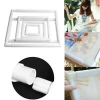 5 Size Square Embroidery Frame DIY Craft Cross Stitch Needlework Sewing Hoop