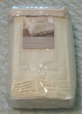 Sanctuary by L'Erba Tranquil 100% Cotton Off-White Queen Bed Skirt, New