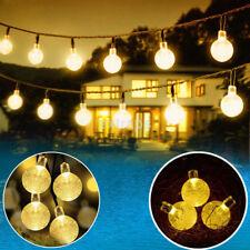 Solar 30 LED Globe Crystal Ball Bubble Hanging Garden Light Xmas String lamp HOT