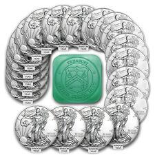 1 oz American Silver Eagles $1 Bu Coins (Random Year) - Lot, Tube, Roll of 20