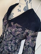 Beautiful Vintage Laura Ashley Rare Dress Tea Party Victorian 14 Paisley Morris