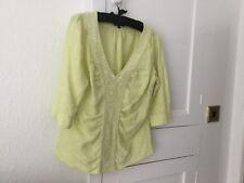 Sfera Ladies Linen Top Size 14 Uk / 42 Eur Lovely Colour & Condition
