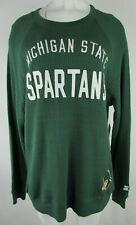 Michigan State Spartan's NCAA Women's Long Sleeve Thermal Shirt in Green