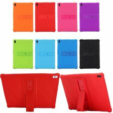 Soft Silicone Stand Case Cover Protector Shockproof For Lenovo Huawei Tablet Pad