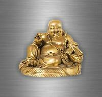 Sticker wall decal home decor vinyl art mandala buddha om ohm buddhism gold