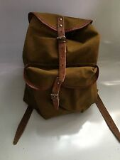 soviet russian army? soldier canvas & leather backpack rucksack