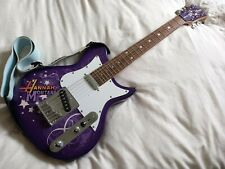 Disney Hannah Montana Secret Star 3/4 Purple Electric Guitar by Washburn + Strap