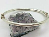 Dyadema Vintage Sterling Silver Hinged Hollow Bangle Bracelet 7.3 Grams
