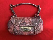 Prada Pink/Purple Python & Lizard Leather Small Shoulder Bag W/ Gunmetal Buckles